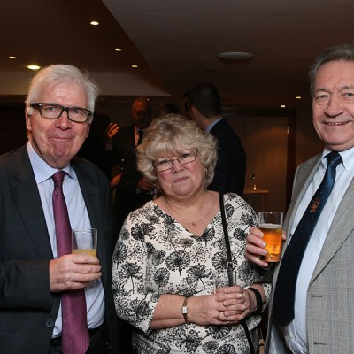 Bob Bansback OBE with Mary and Keith Fisher of The Institute of Meat.