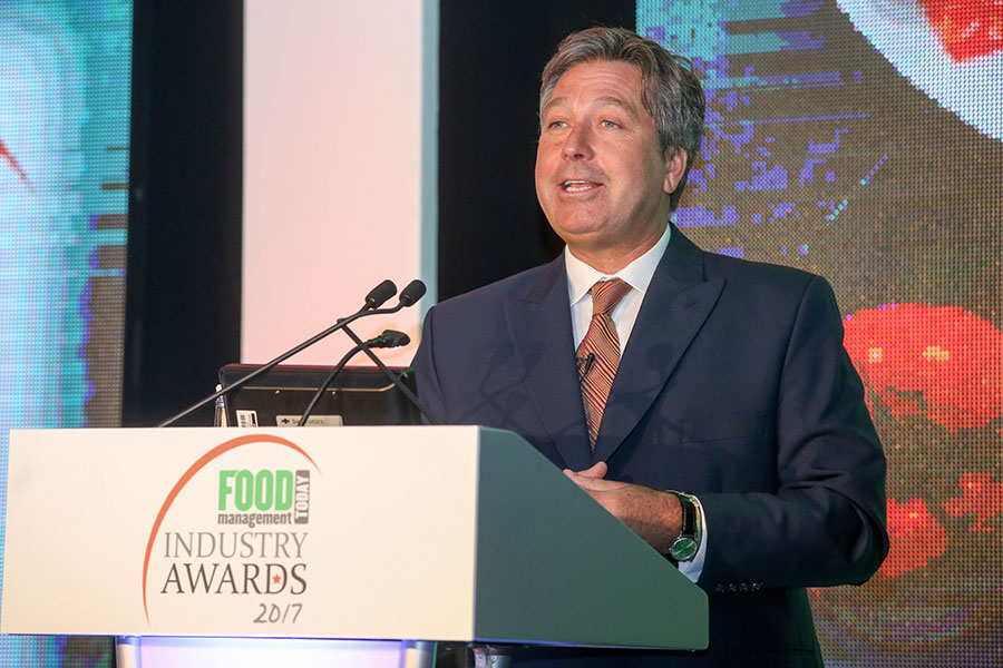 John Torode takes to the stage.