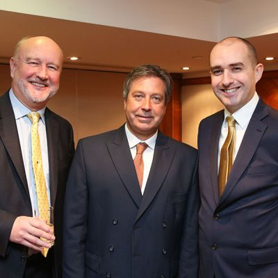 L-R FMT publisher Graham Yandell, chef and awards host John Torode and FMT director Rob Yandell.