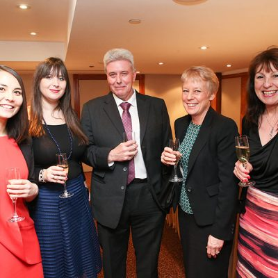 L-R FMT's Alyssa Lim and Emily Ansell Elfer with JDM Food Group's Jon Chesworth, his wife Nina and FMT contributor Jeannine Williamson.
