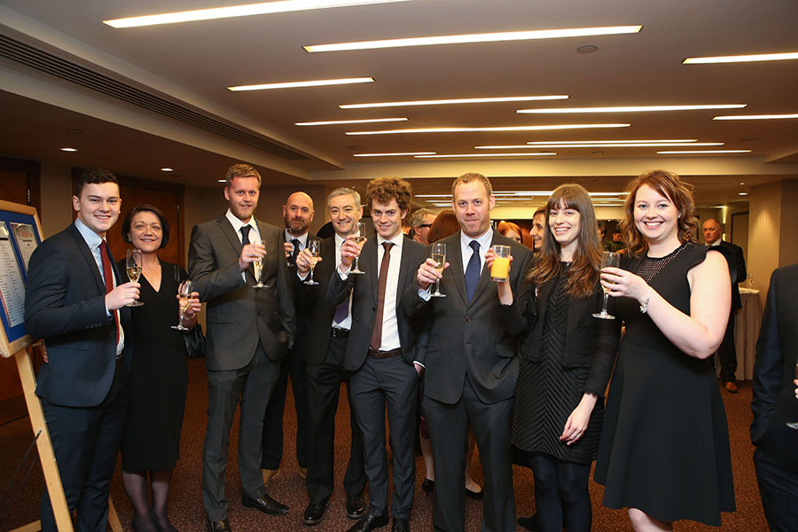Protolan enjoying a pre-awards drink.