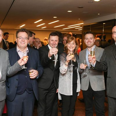 The Teknomek team at the drinks reception.