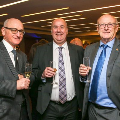 JDM Food Group colleagues together with FMT Food Industry Awards Ambassador Ian Mackway (right).