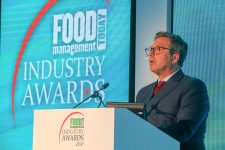John Torode at the podium.