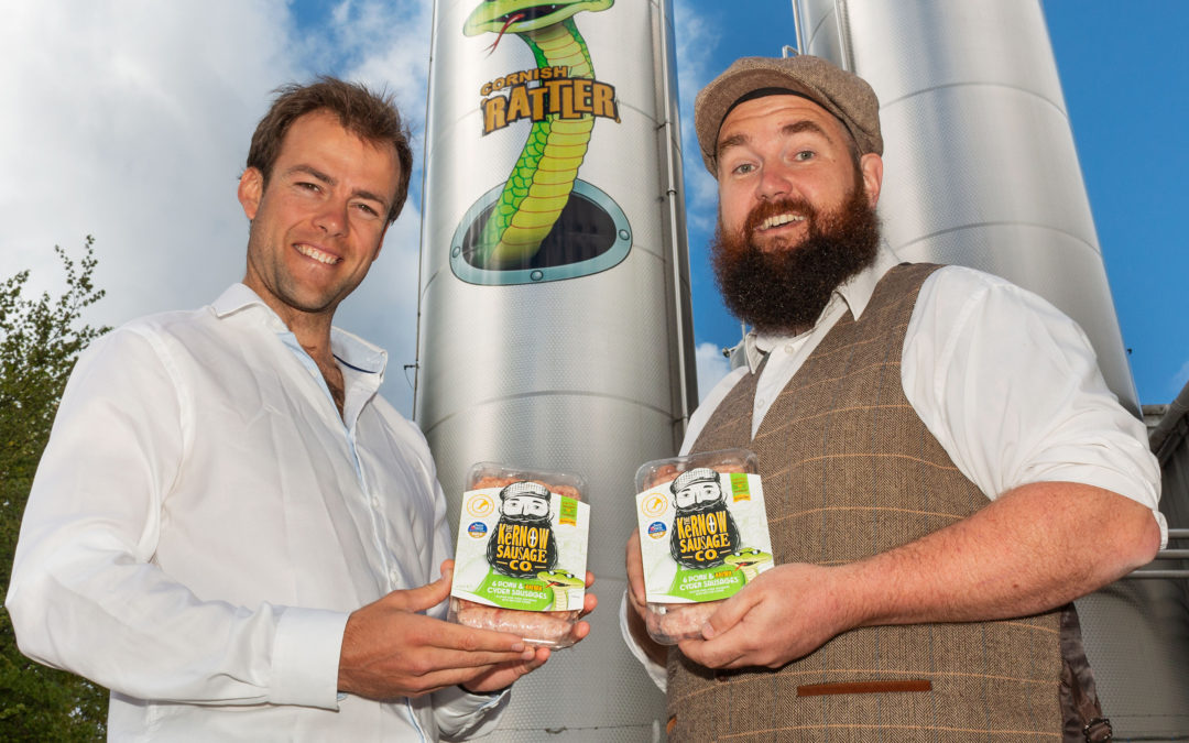 Cornish manufacturers team up to create the Cornish Rattler Sausage