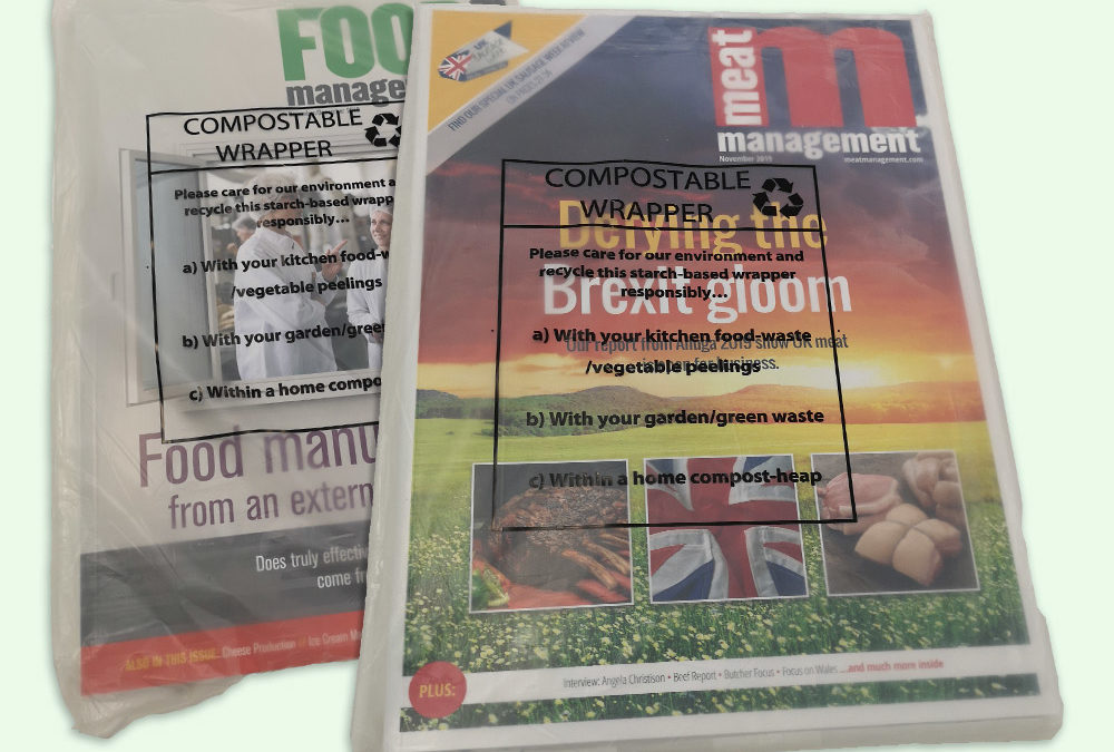 Food Management Today invests in compostable wrapping for its magazine