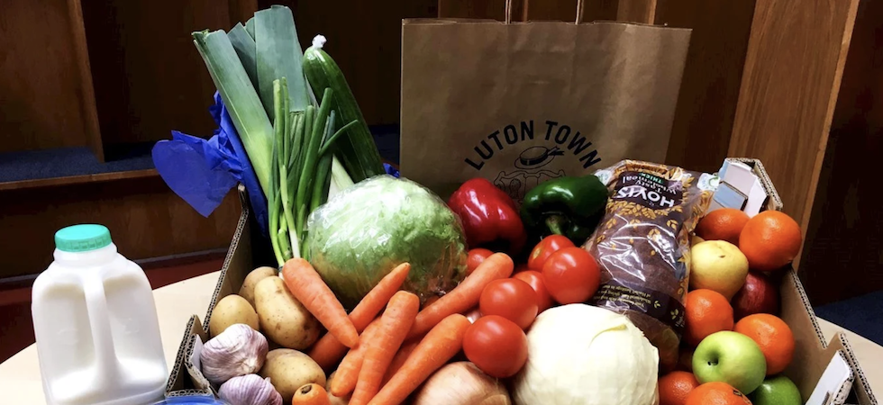 Luton Town Football Club helps local community with food deliveries