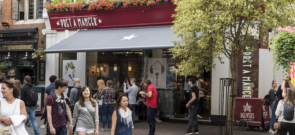 Pret A Manger to close 30 outlets as a result of pandemic
